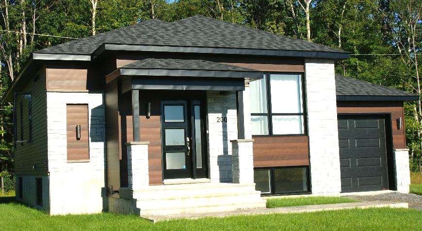 Unifamiliale avec garage style contemporain 2 chambres r d for Projet de maison neuve