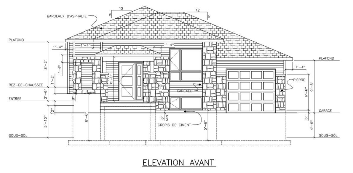 unifamiliale avec garage style contemporain 2 chambres r d c dh construction vente et. Black Bedroom Furniture Sets. Home Design Ideas